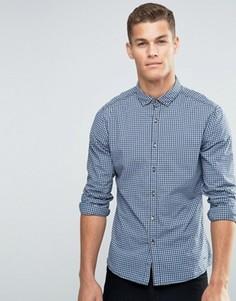 Рубашка в клетку Esprit - Темно-синий