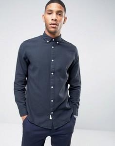 Рубашка из ткани пике на пуговицах Selected Homme - Синий