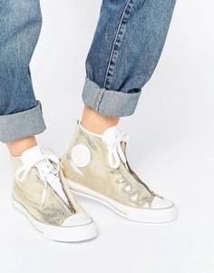 Золотистые кроссовки с эффектом металлик Converse - Золотой