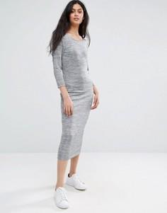 Серое меланжевое платье макси Only - Серый