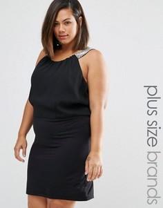 Платье с бретельками Junarose Plus Ruby - Черный