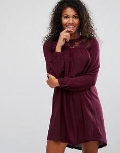 Свободное платье с горловиной кроше Brave Soul - Красный