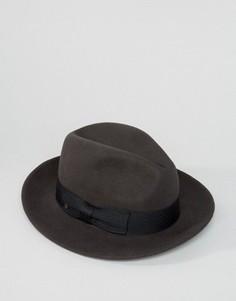 Мягкая фетровая шляпа Brixton Nelson - Серый