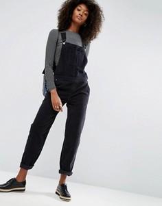 Черный вельветовый комбинезон с накладным карманом ASOS - Черный