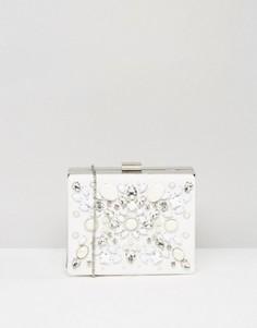 Клатч с декоративной отделкой Chi Chi London - Белый