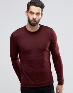 Джемпер из мериносовой шерсти с пуговицами на плече Religion - Красный