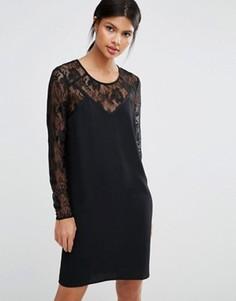 Платье с длинными рукавами Y.A.S Cela - Черный