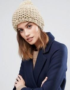 Вязаная шапка-бини Vila - Бежевый
