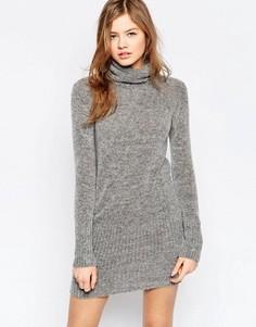 Платье-джемпер с высокой горловиной b.Young - Серый