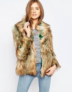Куртка из искусственного меха Noisy May Foxy - Коричневый