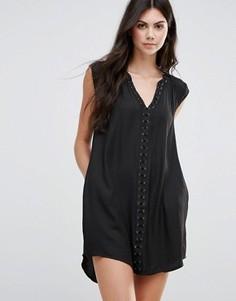 Платье Greylin Dezza Grommet - Черный