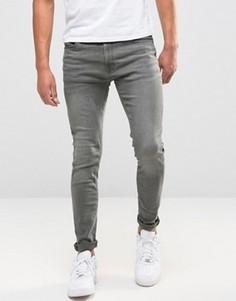 Серые выбеленные джинсы скинни Jack & Jones Intelligence - Серый