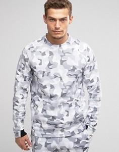 Белый свитшот с камуфляжным принтом Nike Tech 823501-100 - Белый