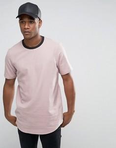 Мягкая на ощупь oversize-футболка пыльно-розового цвета ASOS - Розовый