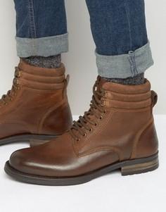 Коричневые ботинки на шнуровке ASOS - Коричневый