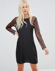 Платье с кружевными рукавами JDY - Черный