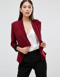 Укороченный пиджак с каскадной драпировкой AX Paris - Красный