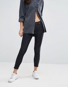 Укороченные джинсы скинни Lee Scarlett - Серый