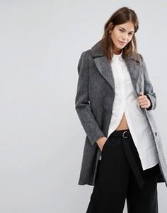 Приталенное пальто Vila - Серый