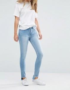 Зауженные джинсы с необработанной кромкой Vila - Синий