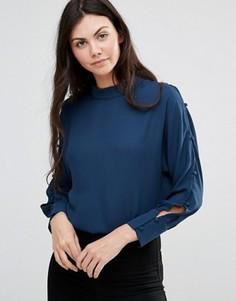 Синяя блузка с вырезами Lavand - Синий