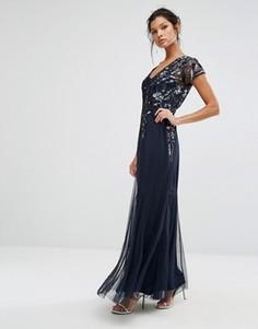 Декорированное платье макси Frock and Frill - Темно-синий