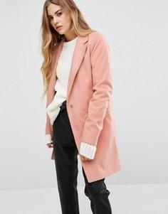 Тренч в строгом стиле First & I - Розовый