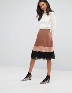 Шифоновая юбка со складками Miss Selfridge - Мульти