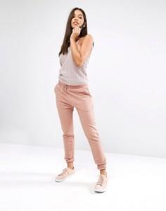 Спортивные брюки в рубчик Missguided - Розовый