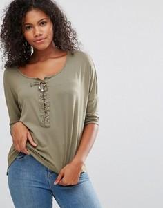Oversize-футболка Brave Soul - Зеленый