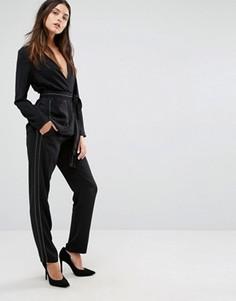 Свободные брюки с отделочными строчками Vero Moda - Черный