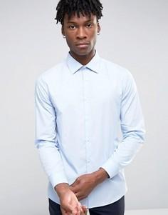 Голубая рубашка узкого кроя Burton Menswear - Синий