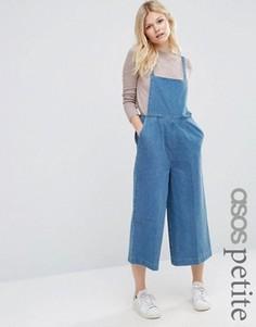 Укороченный джинсовый комбинезон ASOS PETITE - Синий