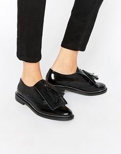 Кожаные туфли на плоской подошве ASOS MARIELLA Premium - Черный