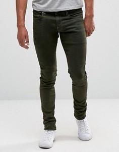 Зеленые окрашенные супероблегающие джинсы G-Star Revend - Зеленый