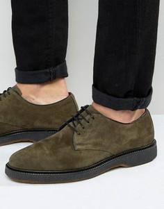 Замшевые туфли дерби цвета хаки ASOS - Зеленый