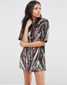 Платье с пайетками в стиле 70‑х Motel - Черный