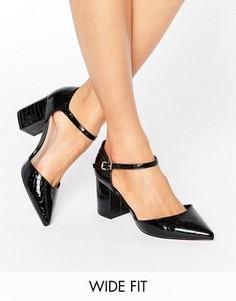 Туфли на каблуке для широкой стопы с острым носком ASOS SORAYA - Черный