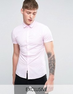 Суперузкая рубашка SikSilk - Розовый