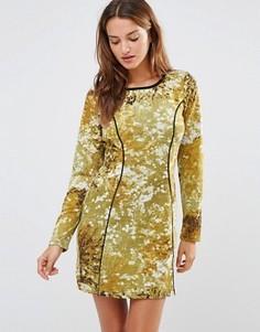 Платье с абстрактным принтом Lavand - Зеленый