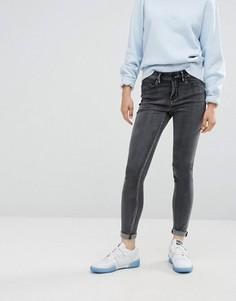 Серые зауженные джинсы с классической талией Waven Asa - Серый