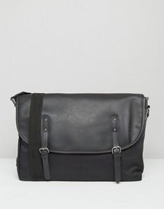 Черная сумка‑сэтчел из искусственной кожи ASOS - Черный