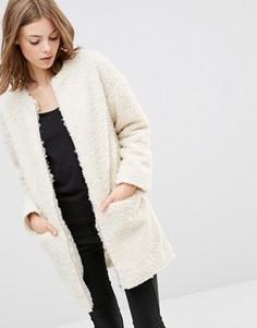Пальто Minimum Pi Teddy - Белый