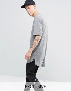 Меланжевая футболка со шнурками Vision Air - Серый