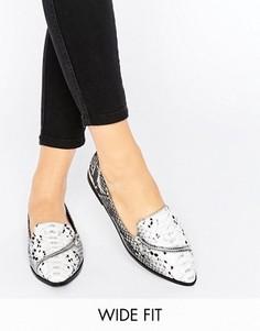 Туфли на плоской подошве для широкой стопы ASOS MARCELLA - Мульти
