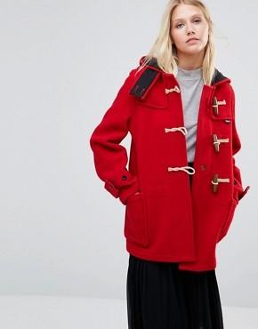 Красное пальто Gloverall Mid Monty - Красный