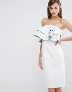 Платье мини с оборками The 8th Sign - Белый