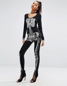 Комбинезон с принтом скелета Missguided Halloween - Мульти