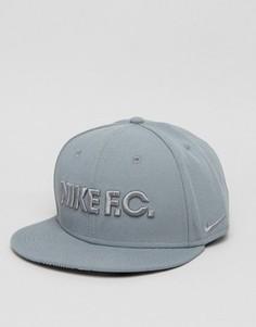 Серая бейсболка Nike FC 805470-065 - Серый