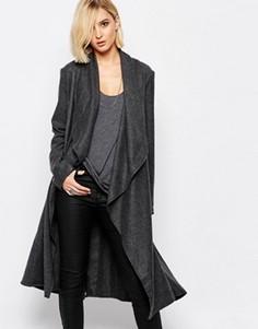 Темно-серое шерстяное пальто Religion Freedom - Серый